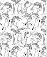 Flamingo Herd Coloring Printable sketch template