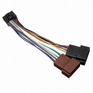 16 Pin Iso Car Stereo Wiring Harness Adaptor Connector