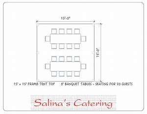 Here Is A Basic 15x15 Tent Layout  This Will Comfortably Seat 20 Guests And Fit 2 Of Our 8 Foot