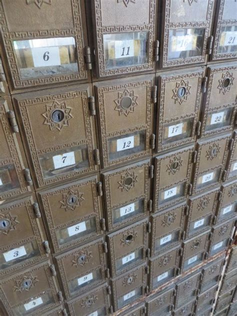 vintage post office box mail cubby cabinets divided block