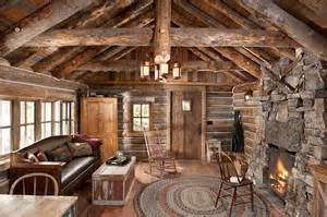 mountain homes interiors whitefish montana historic cabin remodel rustic