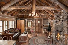 Rustic Cabin Living Room Ideas by Whitefish Montana Private Historic Cabin Remodel Rustic Living Room Ot