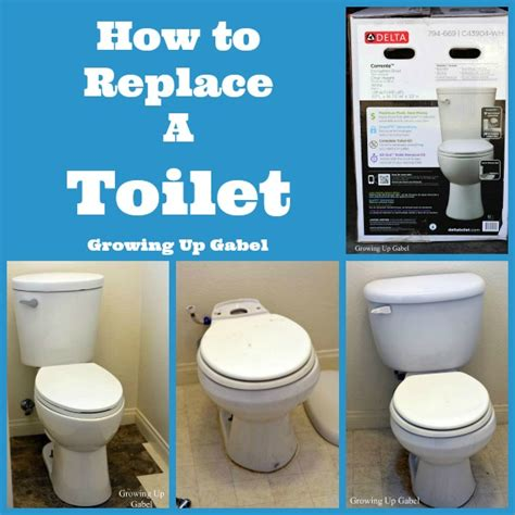 How To Replace A Toilet Diy Master Bathroom Remodel