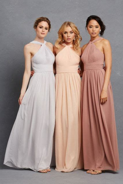 pastel color bridesmaid dresses 20 wonderful halter bridesmaid dress ideas weddingomania