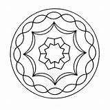Kaleidoscope Coloring Pages Mandala Printable Last Books Q4 sketch template