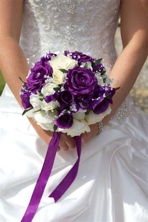 purple wedding flower arrangements ideas