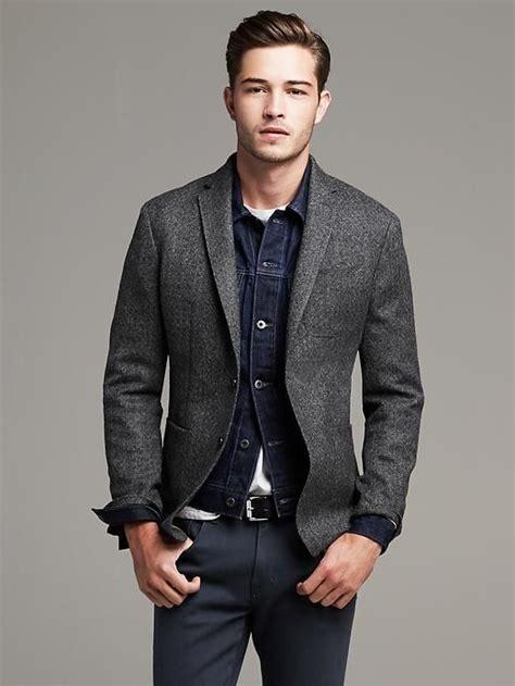 graues sakko kombinieren banana republic heritage gray herringbone wool blazer mens fashion