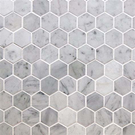 white marble mosaic stone pride marble mosaic elegance collection italian carrara white hexagon 2 quot x2 quot polished