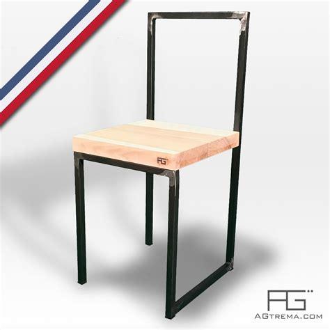 chaise acier chaise vales en acier brut et bois massif agtrema