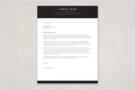 classy stylist letterhead template  tasteful modern