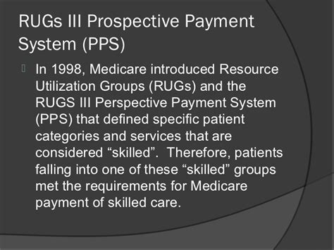 Rugs Payment System by Differences Between Inpatient Rehabilitation Skilled