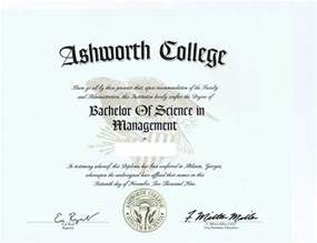 Ashworth College Degree Diploma