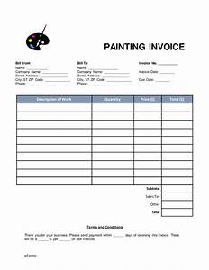free painting invoice template word pdf eforms With invoice for painting job