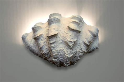 wall sconce ruffled clam shell beach style wall