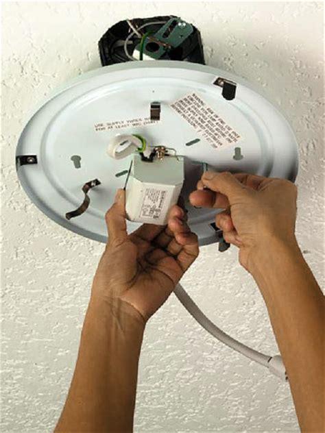 installing a fluorescent fixture free