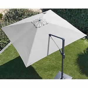 Jardiland Parasol Déporté : parasol d port orientable aluminium 3x3 m blanc gamm vert ~ Premium-room.com Idées de Décoration