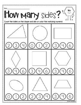 print and go shapes and geometry no prep morning work