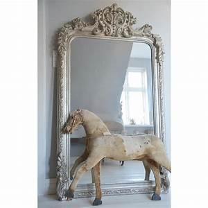 Großer Spiegel Silber : gro er spiegel french vintage silber bei le bon jour ~ Indierocktalk.com Haus und Dekorationen