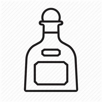 Patron Bottle Tequila Liquor Icon Drawing Spirits