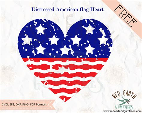 Huge library of free svg files to download instantly and create your diy projects today! FREE distressed American flag heart, fourth of july,4th of ...