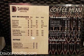 Coffee cafe my coffee coffee drinks coffee shop coffee corner black coffee coffee plant coffee menu coffee scrub. Menu of Dayaw Coffee & Tea - Davao Food Trips