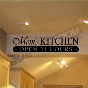 Moms kitchenwall quotes sayings words lettering for Kitchen wall sayings vinyl lettering