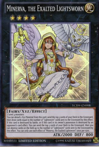 minerva the exalted lightsworn ycsw en008 limited edition yu gi oh singles