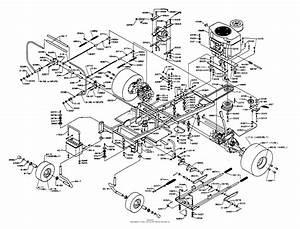 Dixon Ztr 5501  1995  Parts Diagram For Chassis Assembly