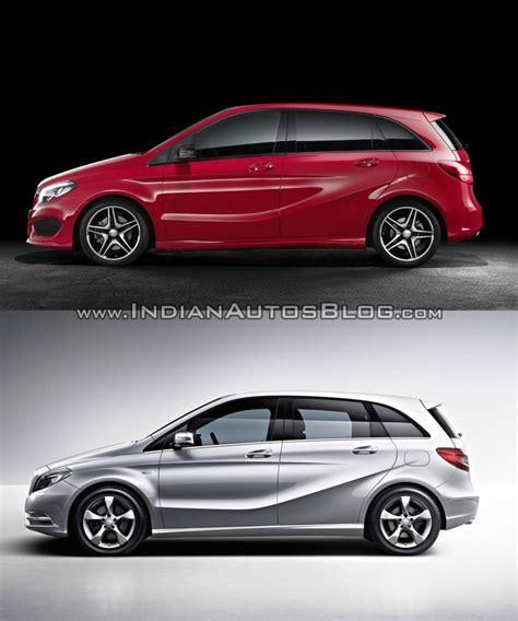 mercedes  class facelift  pre facelift model