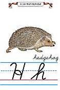 jan brett alphabet cursive manuscript page