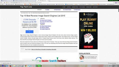 Top 10 Best Reverse Image Search Engines List 2015
