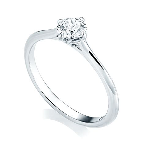 gia certified platinum solitaire diamond engagement ring