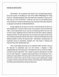 Individual Reflective Essay Favourite Hobby Essay Individual  Individual Reflective Report Essay Examples Eleanor Roosevelt Essay Science Essays Topics also Thesis Statement For Essay  Business Essay Format