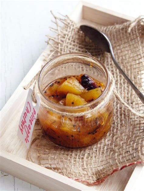 pineapple chutney anarosher chutney indian spiced pineapple chutney recipe dishmaps
