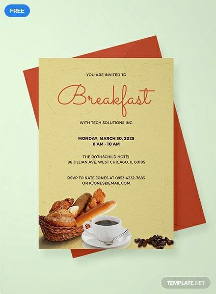 company breakfast invitation invitations breakfast