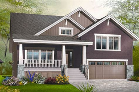 bi level floor plans with attached garage craftsman style house plan 4 beds 2 5 baths 2309 sq ft
