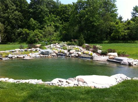 Swimming Pond : Vermont Landscaping Design