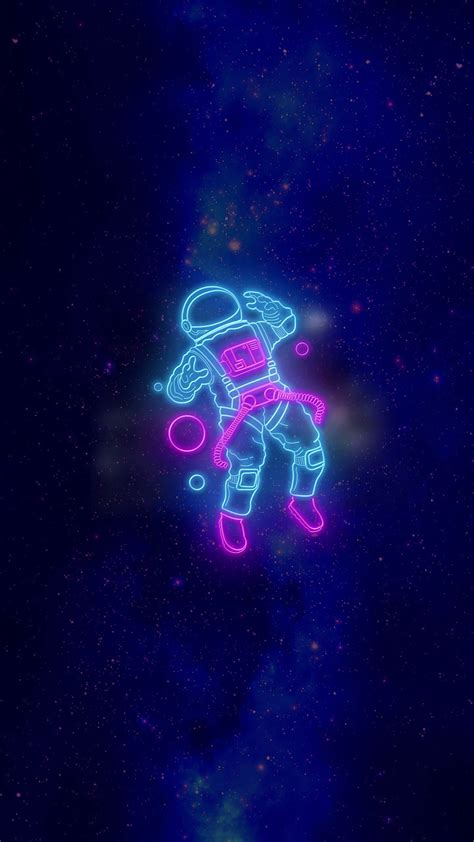 Neon Anime Wallpaper - neon astronaut beautiful wallpaper