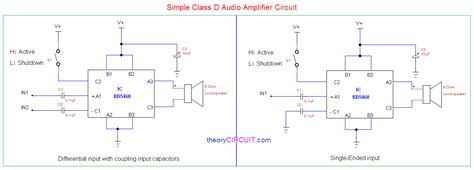 Simple Class Amplifier Schematic