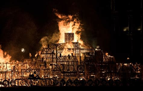 Find the perfect firefighters london stock photos and editorial news pictures from getty images. Great Fire Of London Replica Set On Fire In 'Watch It Burn ...