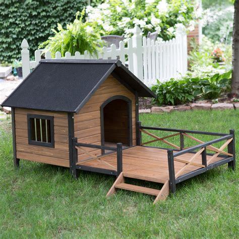 boomer george lodge dog house  porch large dog houses  hayneedle