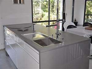 Granits deco plan de travail en quartz unistone grigio for Decoration pour jardin exterieur 5 cuisine quartz noir