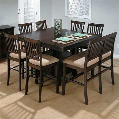 bar height table 6 chairs jofran 6 piece counter height dining set in baker 39 s cherry