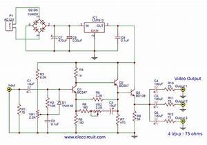 Video Amplifier Splitter Circuit Using Bd137