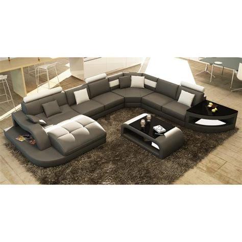 canape d angle 8 10 places canapé d 39 angle design panoramique gris et blanc achat