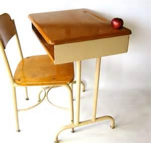 vintage school desk solid wood top size