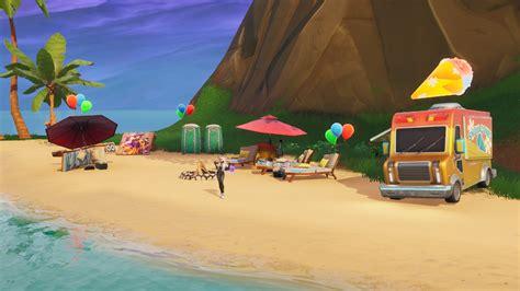 dance  beach parties  fortnite guide stash