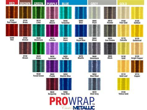 prowrap metallic thread size   yds