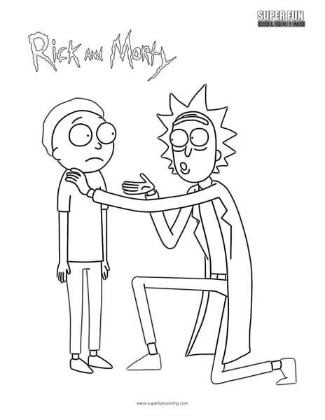 rick  morty coloring page super fun coloring