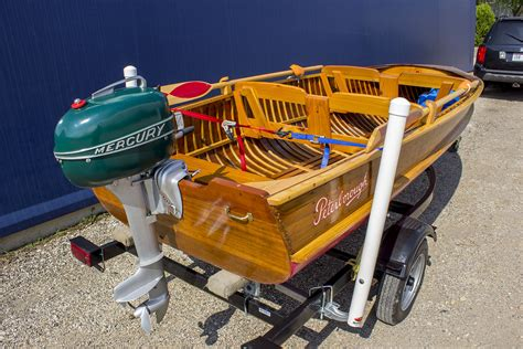 Boat Motor For Sale Peterborough by 1941 Peterborough Zephyr Cedar Runabout Onatrailer